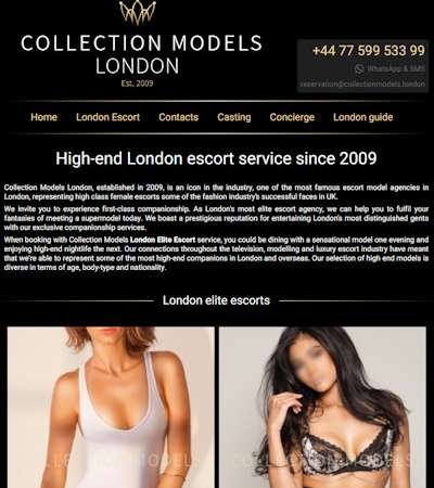 Luxury London escorts by Collection Models