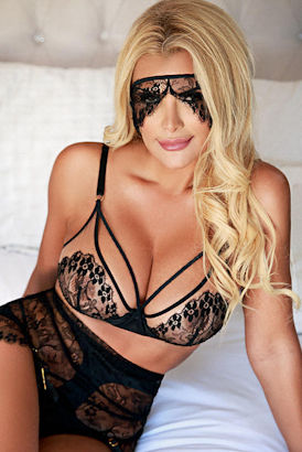 Sexy blonde Argentinian escort in London
